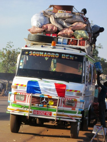 Mali Bus with Flag