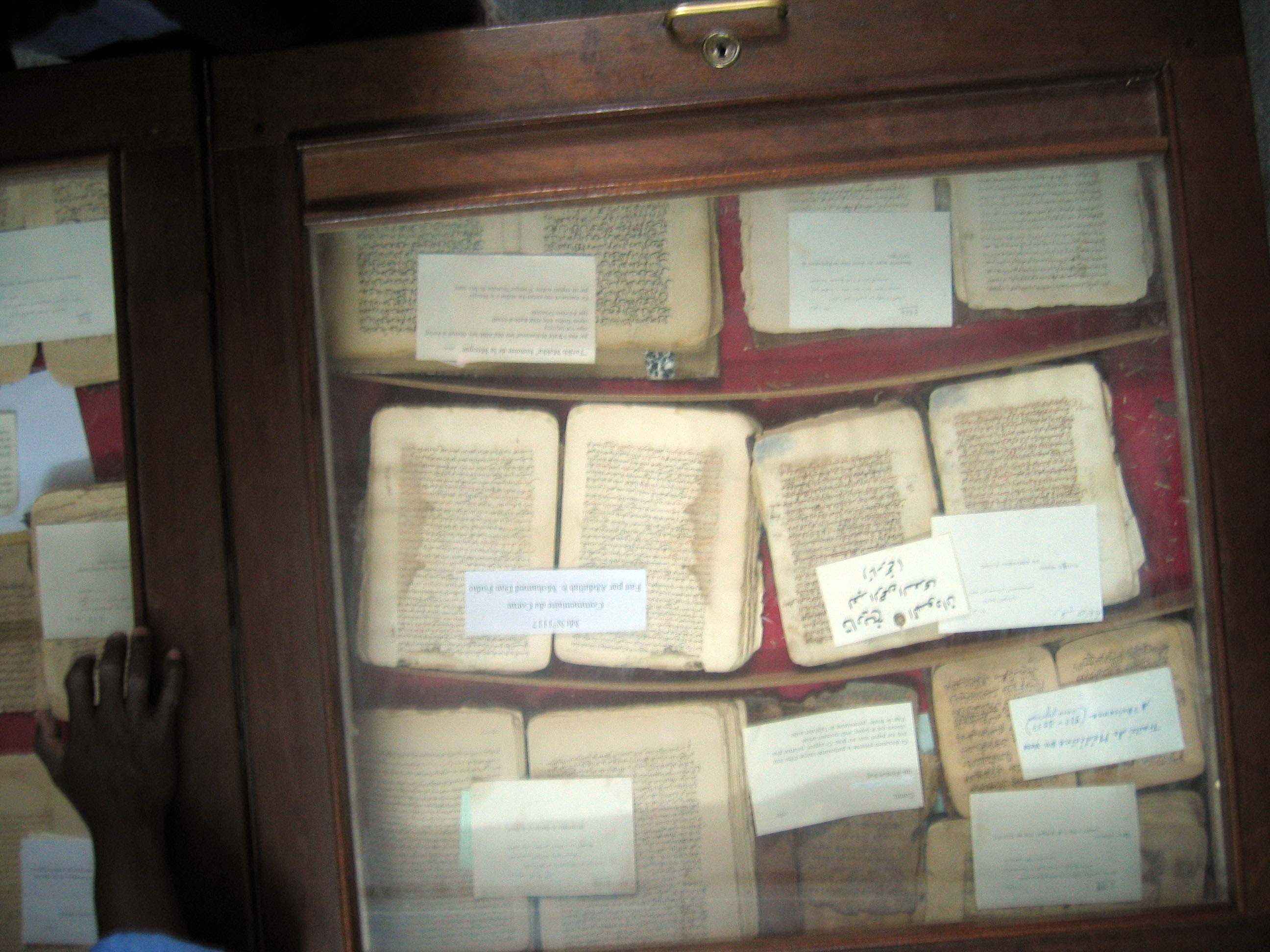 Ancient documents in Timbuktu museum