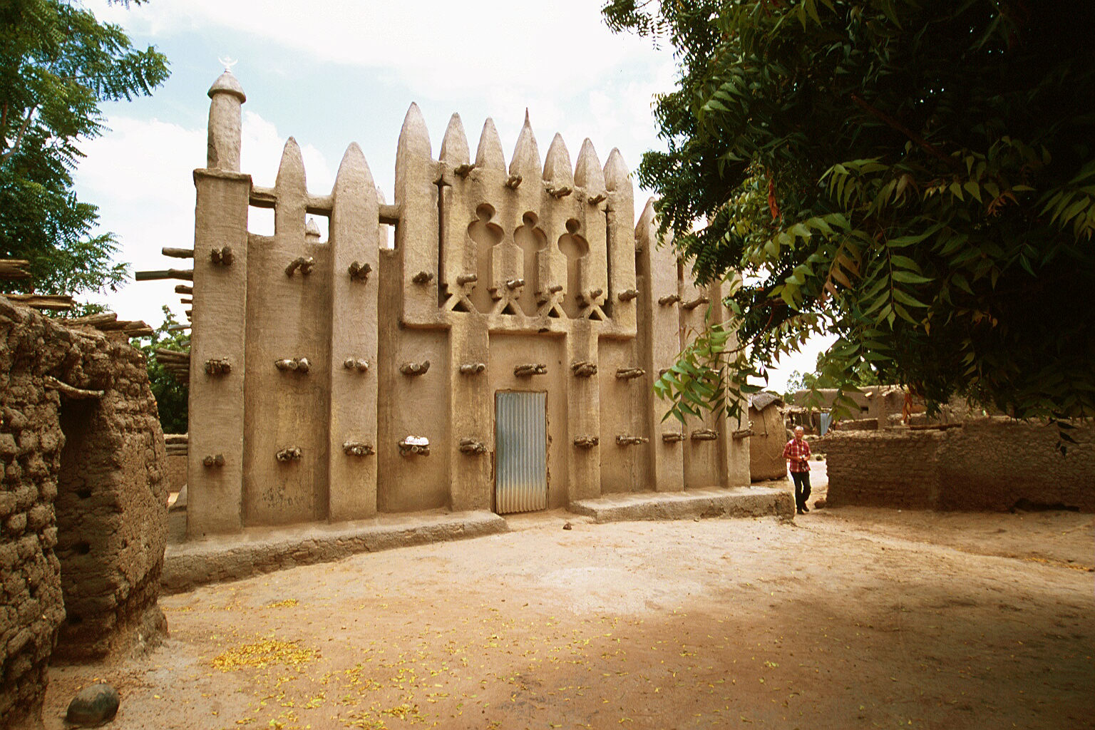 A small mosque in a village just off the Bamako-Segou road